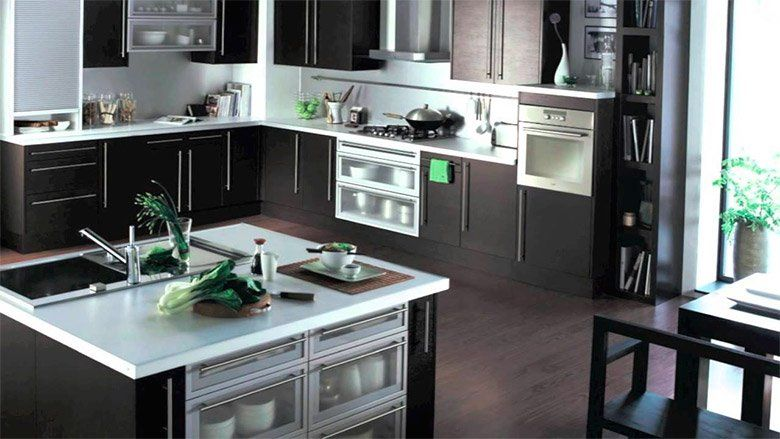 Decoracion para cocinas grandes modernas chile buscar - Decoracion pared cocina ...