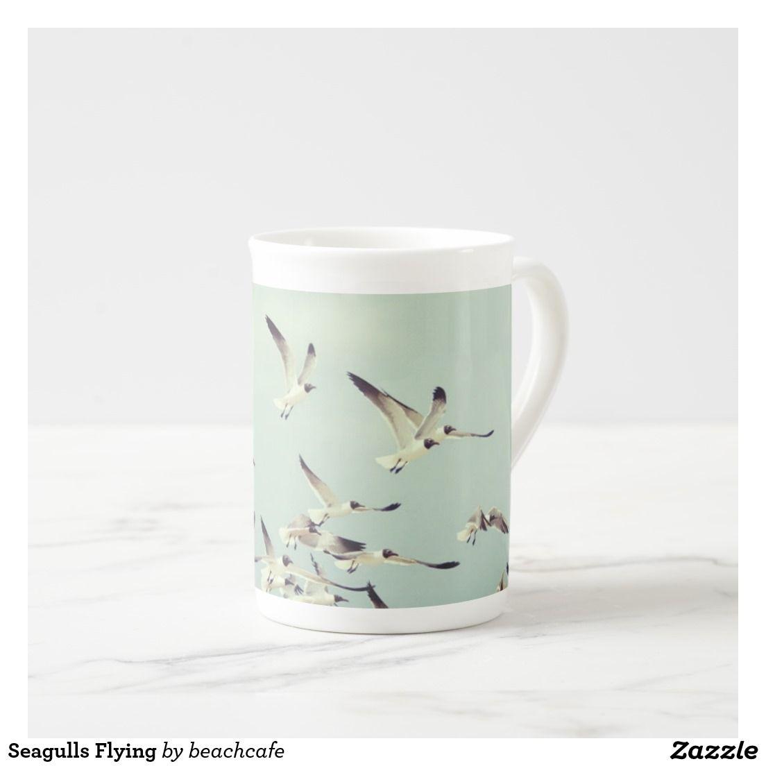 Seagulls Flying Tea Cup