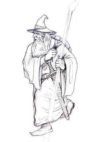 gandalf on his way coloring page lord of the rings trilogy