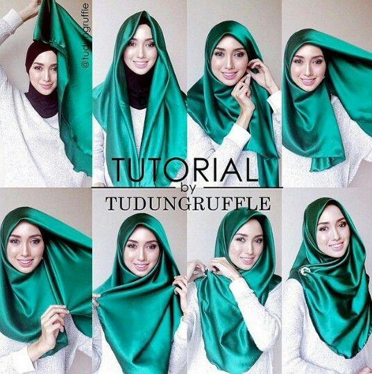 Photo of tutorialbyTR #azfir Hijab tutorial Hijab-tutorial Kebaya Turban hijab Pashmina h…