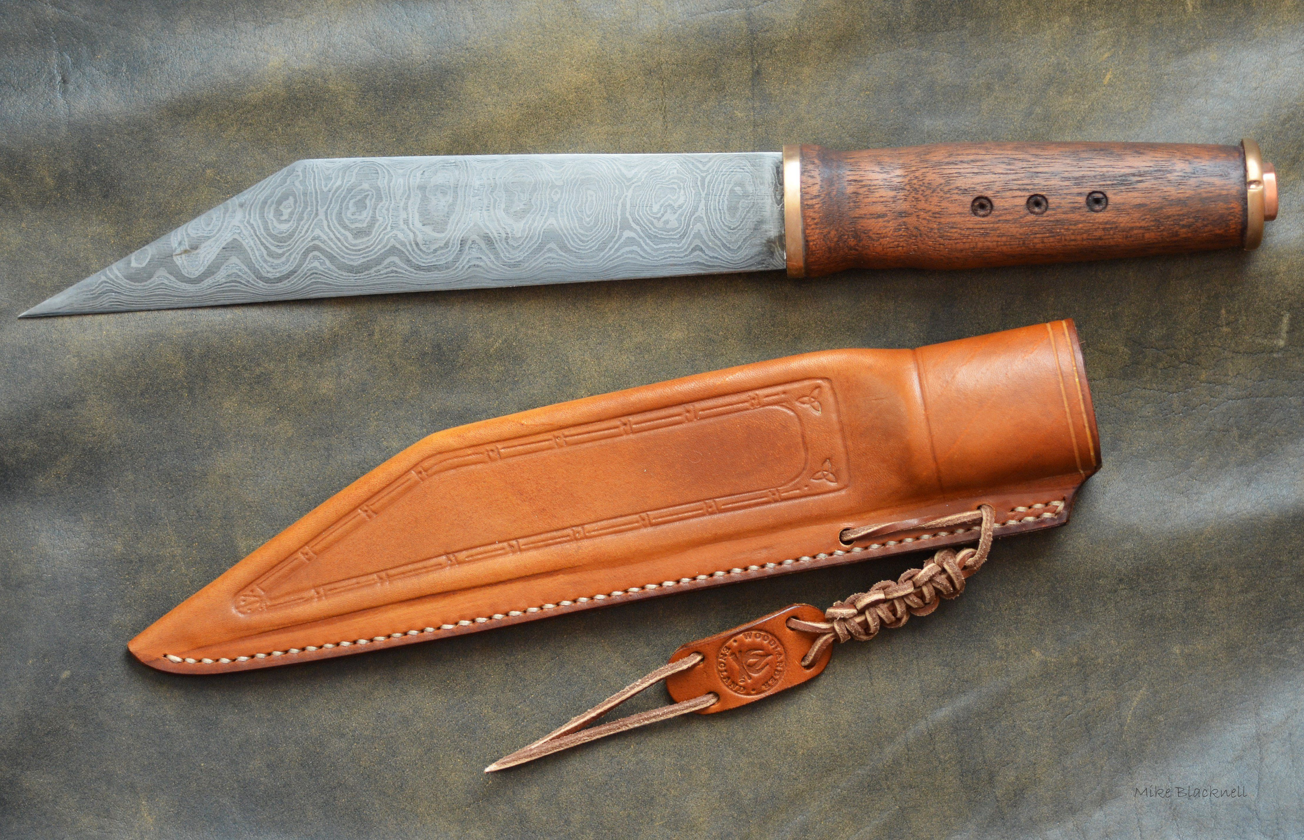 This Viking Seax Knife Was Made From A Pattern Welded Steel Billet It Was Then Heated And Hardened In Oil And Tempered And Que Seax Knife Knife Template Knife