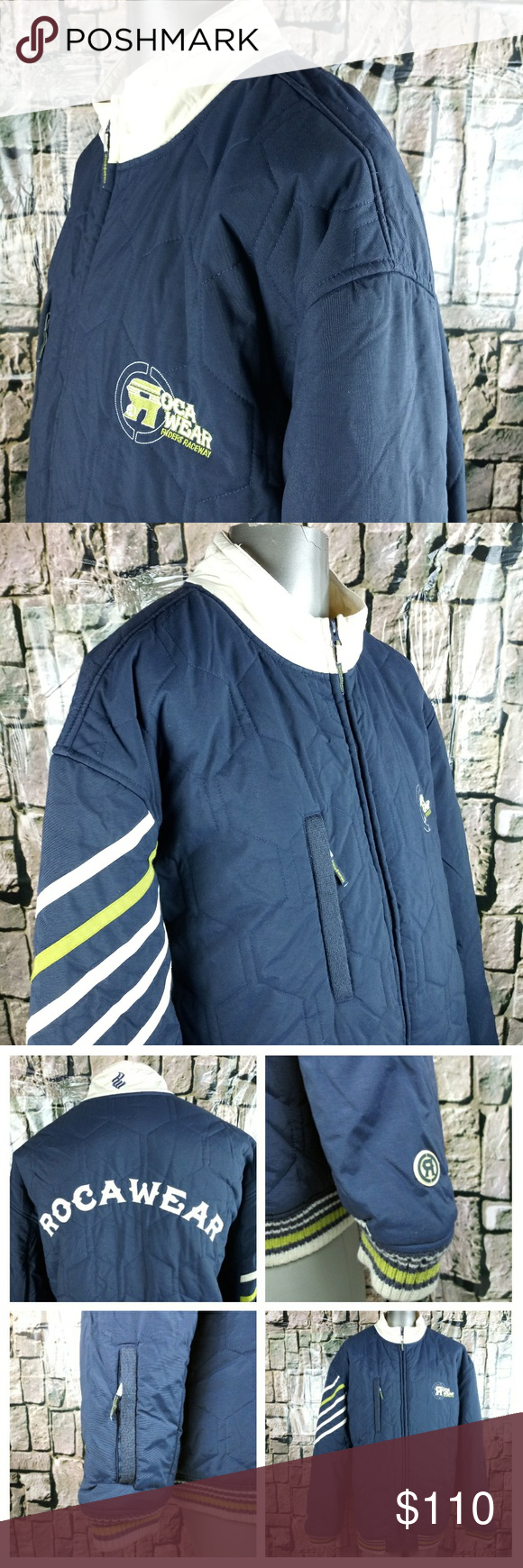Rare Find Roca Wear Puffer Coat Riders Raceway Puffer Coat How To Wear Clothes Design [ 1740 x 580 Pixel ]