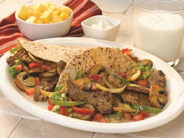 Steak Mushroom Fajitas