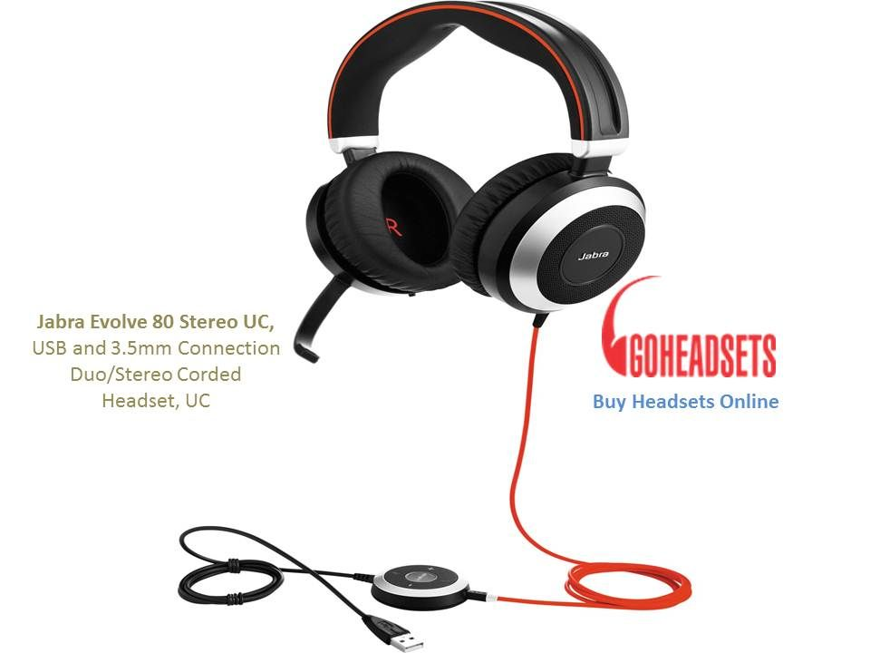 The Jabra Evolve 80 Comes With A 3 5mm Jack Stick Incorporated Into The Control Unit Giving You The Freedom To Connect You Headset Headsets Best Gaming Headset