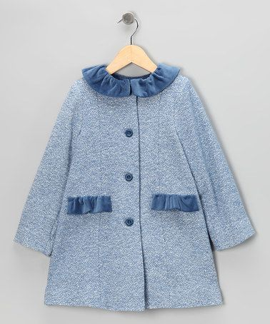 ba754065c Take a look at this Blue Wool Peacoat - Infant   Girls by Fina ...