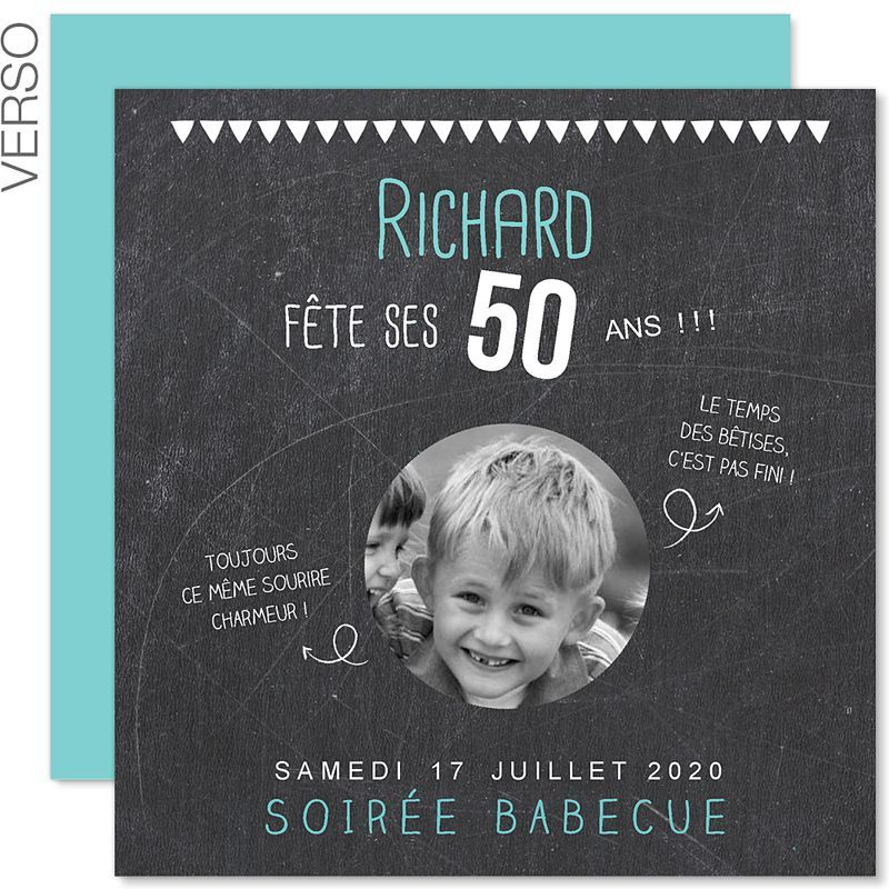 carte d invitation anniversaire 50 ans gratuit carte. Black Bedroom Furniture Sets. Home Design Ideas