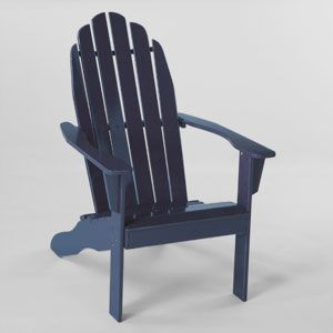 Classic Adirondack Chair In Navy 100 Side Table And Ottoman