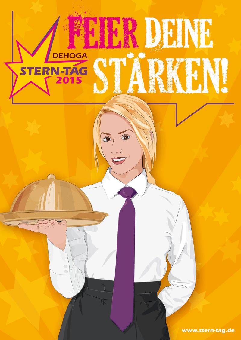 Fachkraft im Gastgewerbe - Dehoga Berlin - Stern-Tag 2015 - Feier Deine Stärken! - orange - www.stern-tag.de