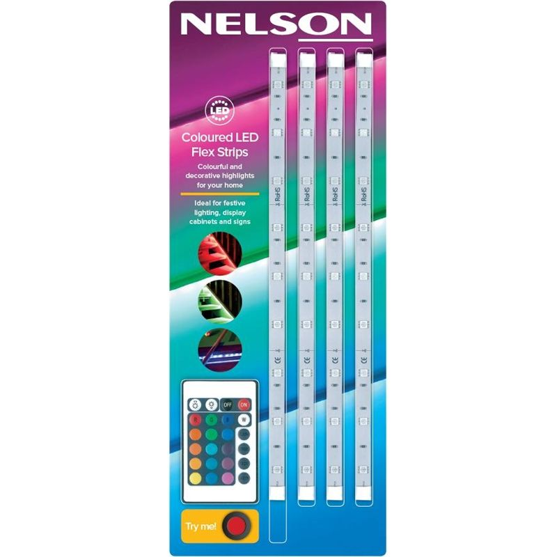 Nelson 8 8w Led Strip Light Red Green Blue Nel Ledsprgb