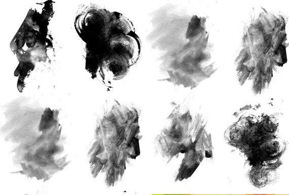 Free Grungy Watercolor Photoshop Brushes Photoshop Brushes
