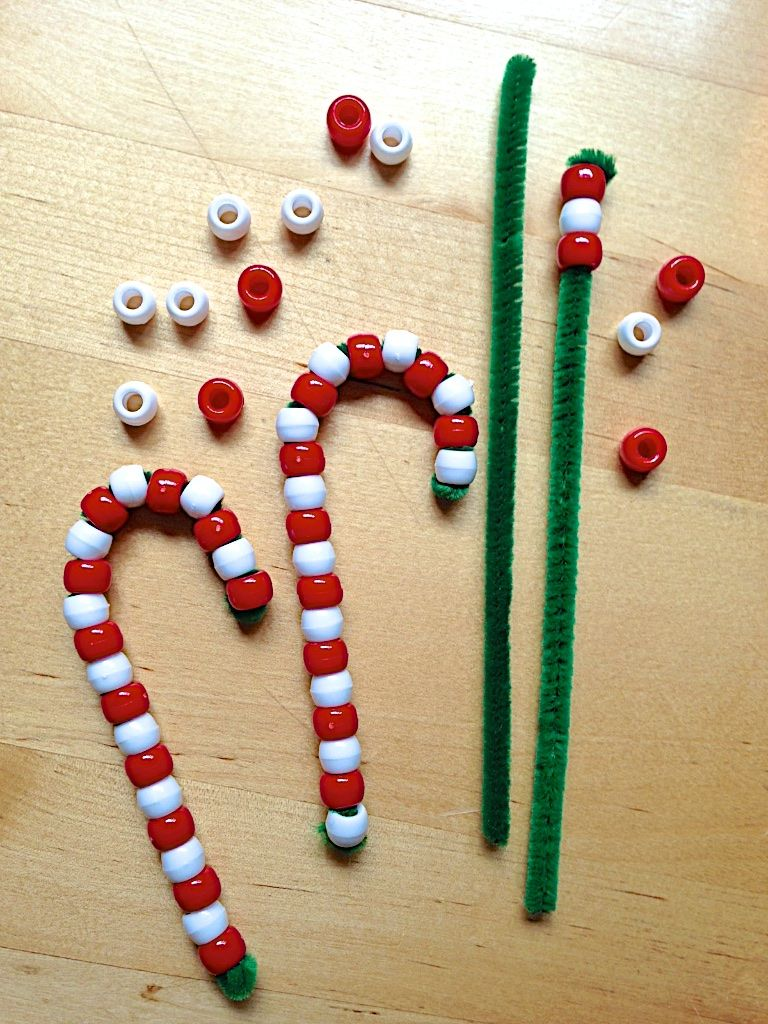 Beaded Candy Cane Ornaments Recipe All Things Holiday
