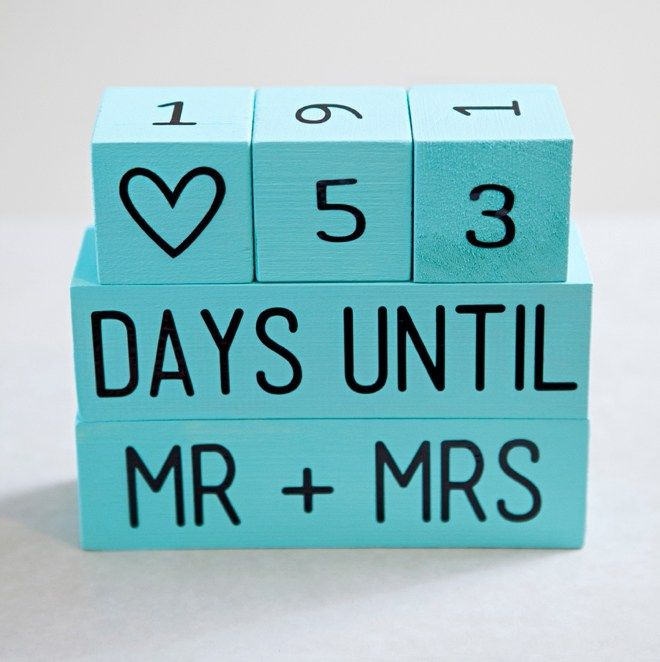 Make Your Own Wedding Gift: Learn How To Make Your Own Wedding Countdown Blocks