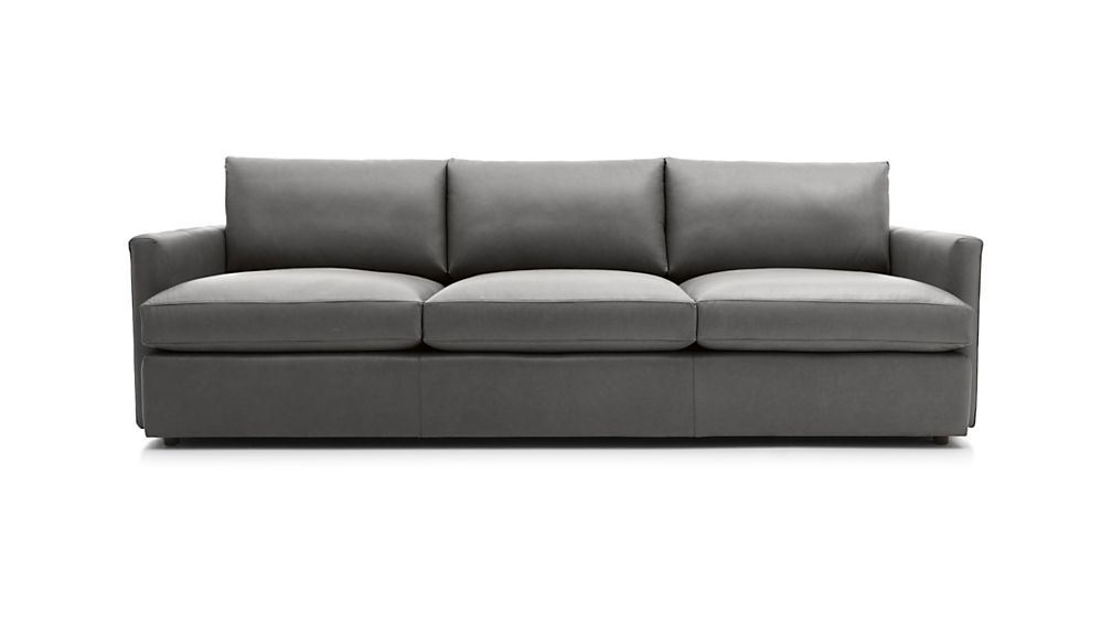 Lounge Ii Leather 3 Seat 105 Grande Sofa Reviews Crate And Barrel Sofa Family Room Sofa Sofa Review