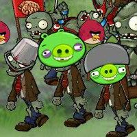 Angry Birds Vs Zombies Game