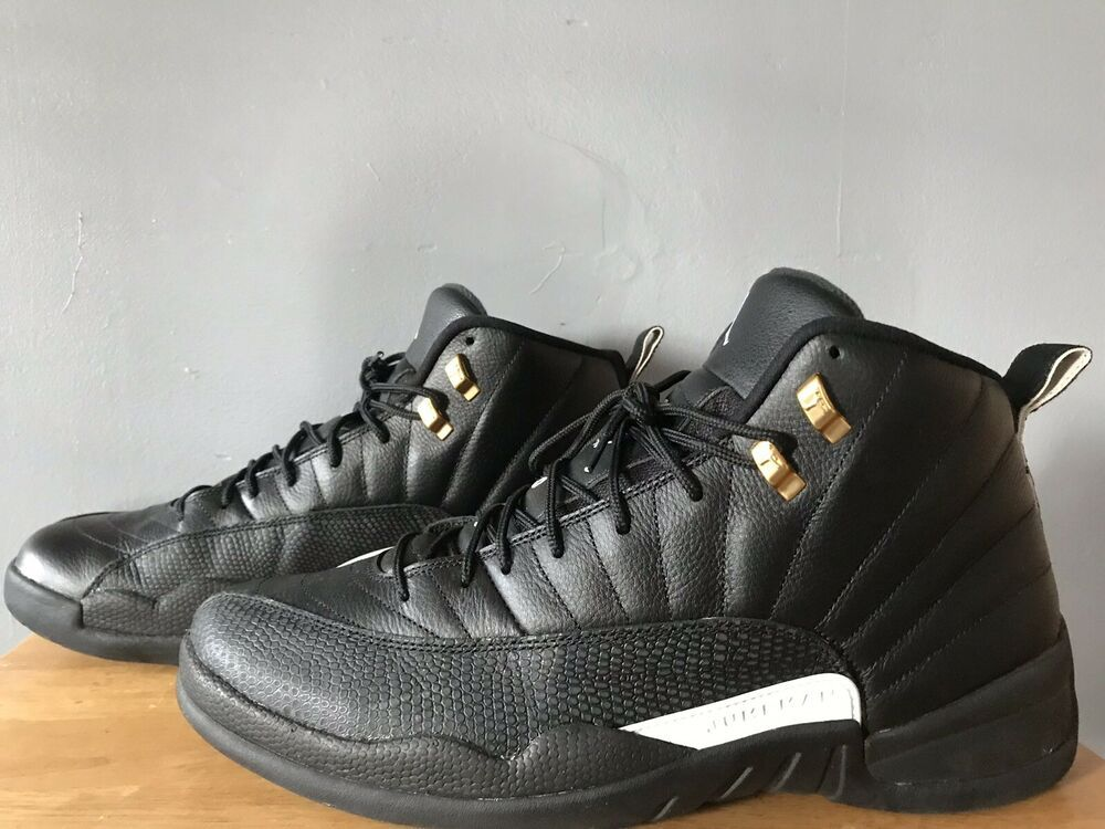 bbbf2eb3e54 Nike Air Jordan 12 XII Retro The Master Size 14 Black White Gold 130690-013