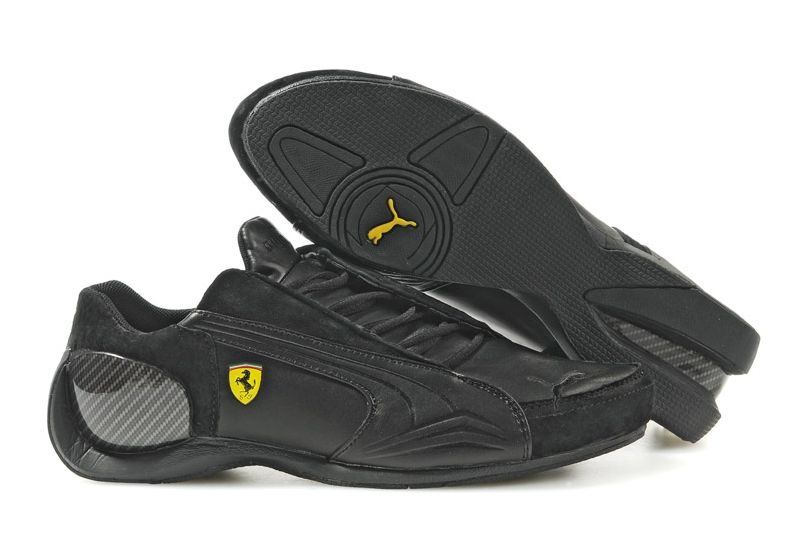 Puma Ferrari Future Cat Super LT Womens Motorsport Shoes Black Yellow . a8d328272d