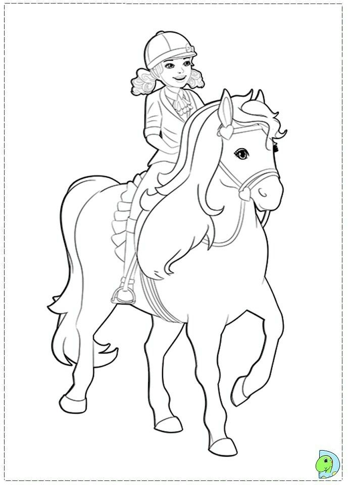 Pin By Renata On Barbie Coloring Horse Coloring Pages Barbie Coloring Pages Horse Coloring