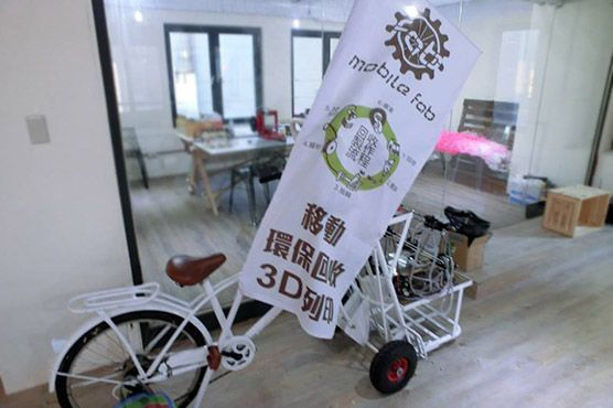 Bicycle brings 3D printing to Taiwan streets. We built everything from scratch using designs and instructions said co-founder Matteo Chen. #3dprinter #3dprinting