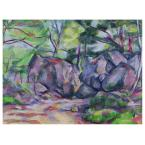 26 in. x 32 in. 'Woodland with Boulders 1893' Canvas Art