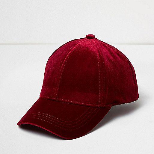 a7b5f0fcf Dark red velvet cap - hats - accessories - women | Accessories in ...
