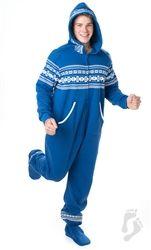6d50ed3bc Nordic Blue Adult Hoodie Onesie
