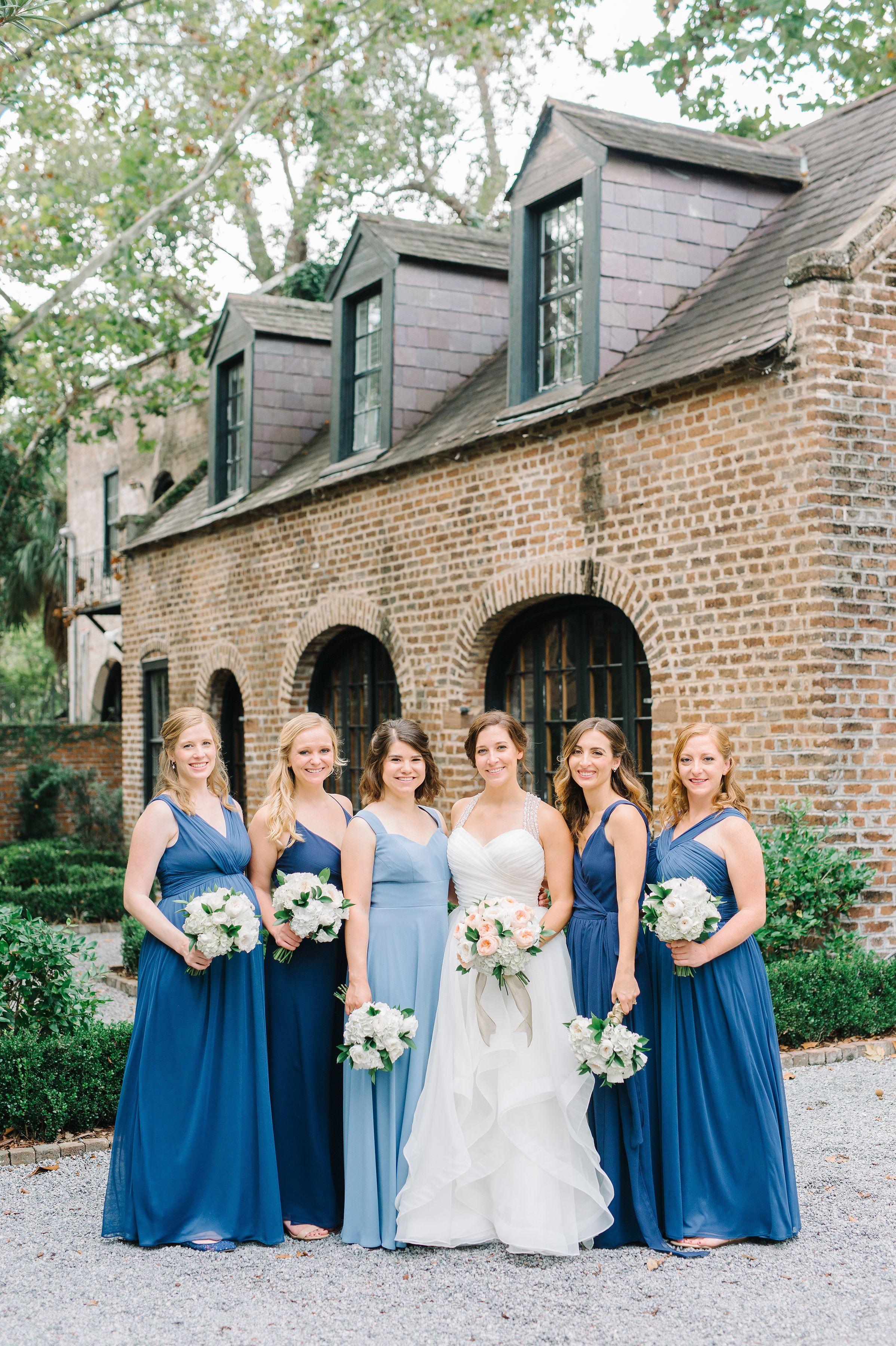 Blue bridesmaids dresses lowndes grove nautical wedding pure blue bridesmaids dresses lowndes grove nautical wedding ombrellifo Choice Image