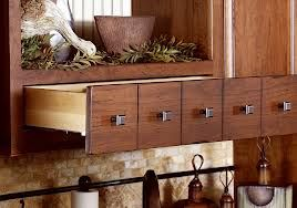 False apothecary drawers in kitchen