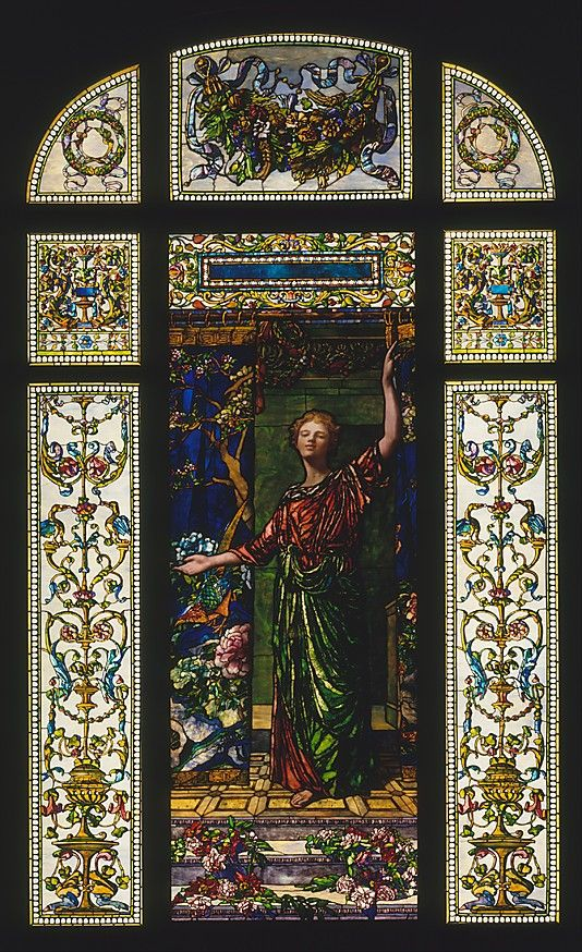 Welcome: Stained Glass Window from the Mrs. George T. Bliss House, New York  John La Farge  (American, New York City 1835–1910 Providence, Rhode Island)    Date:      1908–9
