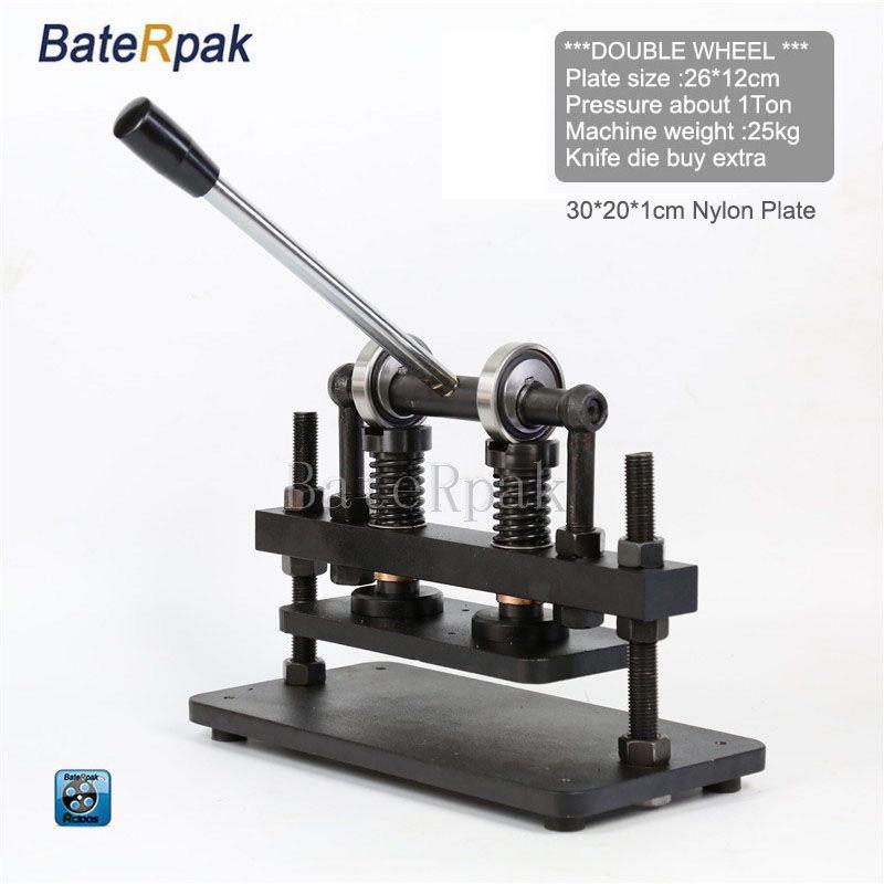 26x12cm Double Wheel Hand Leather Cutting Machine Baterpak
