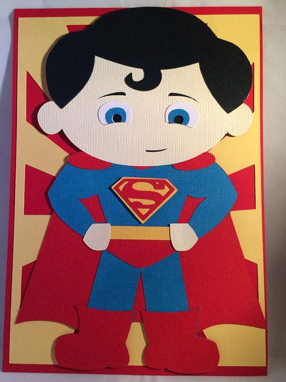 handmade by heros superman inspired handmade card on etsy 13 92 cards 1043