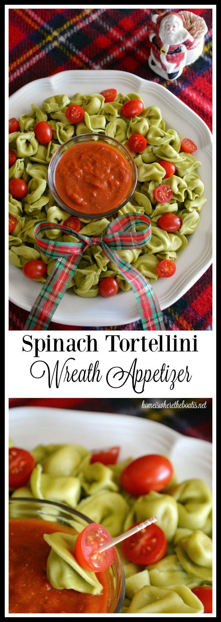Photo of Antipasto di 10 minuti: ghirlanda natalizia di tortellini di spinaci! – #antipas …