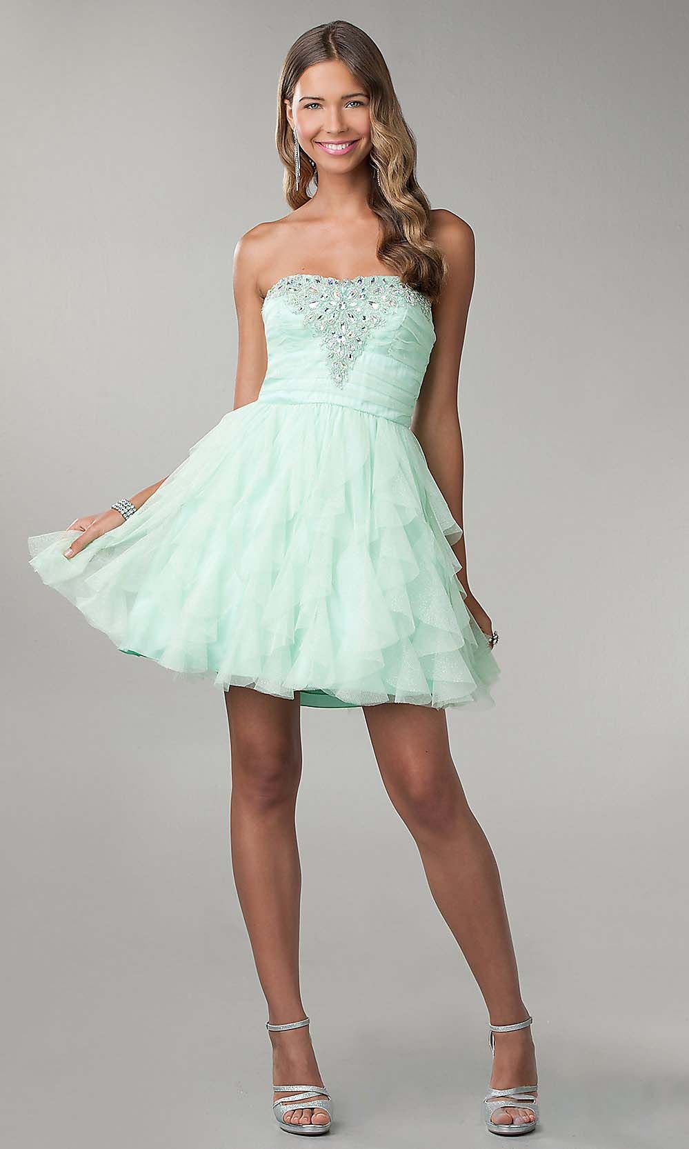 Cute Prom Dress Pretty Prom Dresses Mint Prom Dress Short