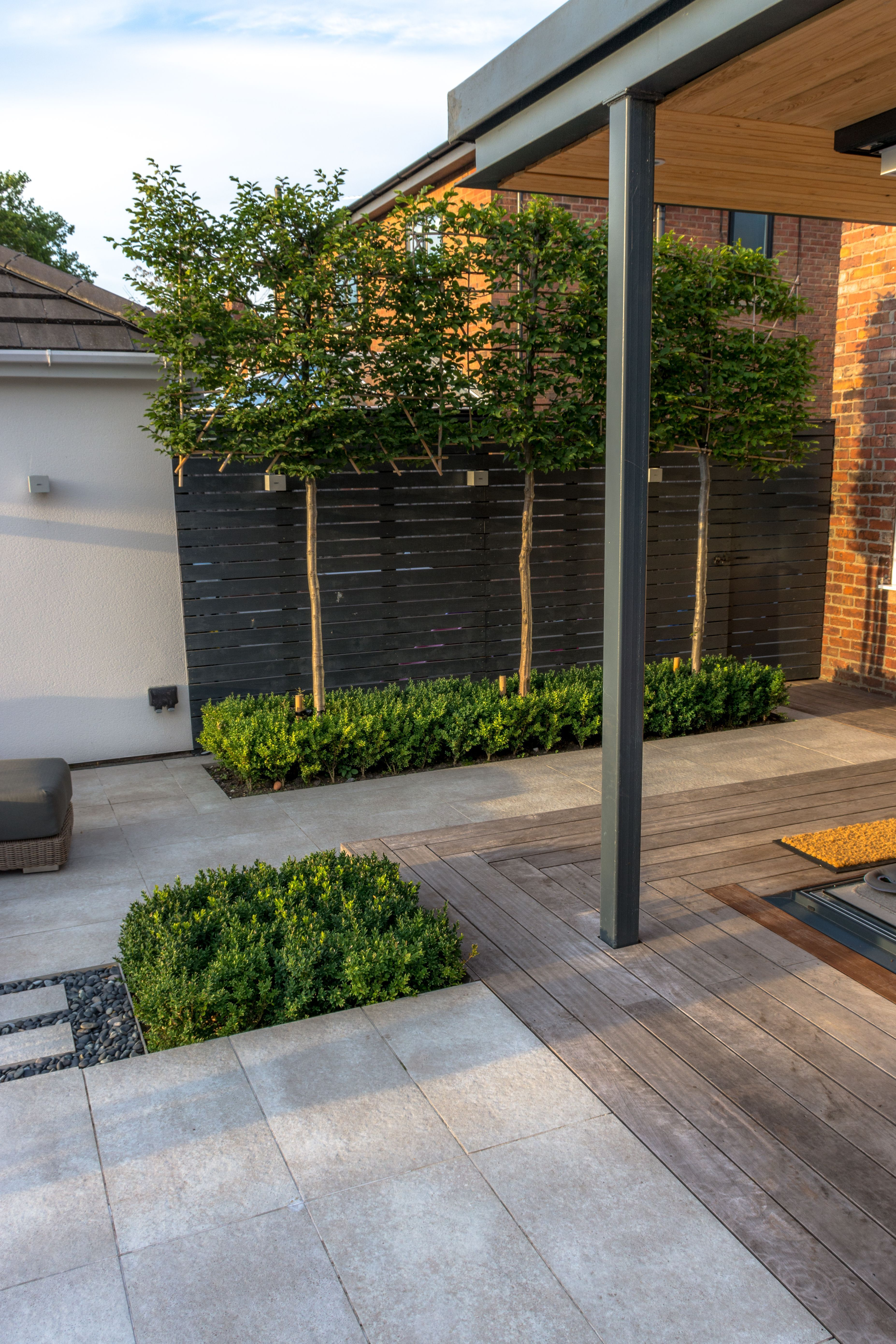 Pleached Hornbeam Designed By Robert Hughes Garden Design A Contemporary Landscape In Manchester In 2020 Contemporary Garden Design Garden Design Backyard Landscaping,Hand Made Simple Embroidery Designs For Baby Frocks