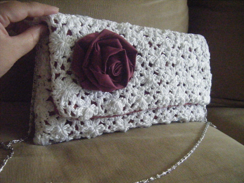 Clutch Lace Envelope Oversize Purse Crochet Pattern Pinterest