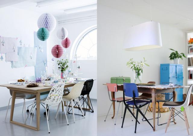 Je Veux Des Chaises De Table Dépareillées Chaise De Table - Table et chaises depareillees pour idees de deco de cuisine