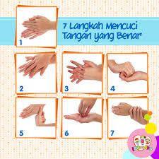 Hasil gambar untuk 7 langkah cuci tangan | Mencuci tangan, Tangan