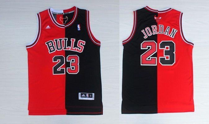 Chicago Bulls #23 Jordan Men Split 2017 New Logo NBA Adidas Jersey