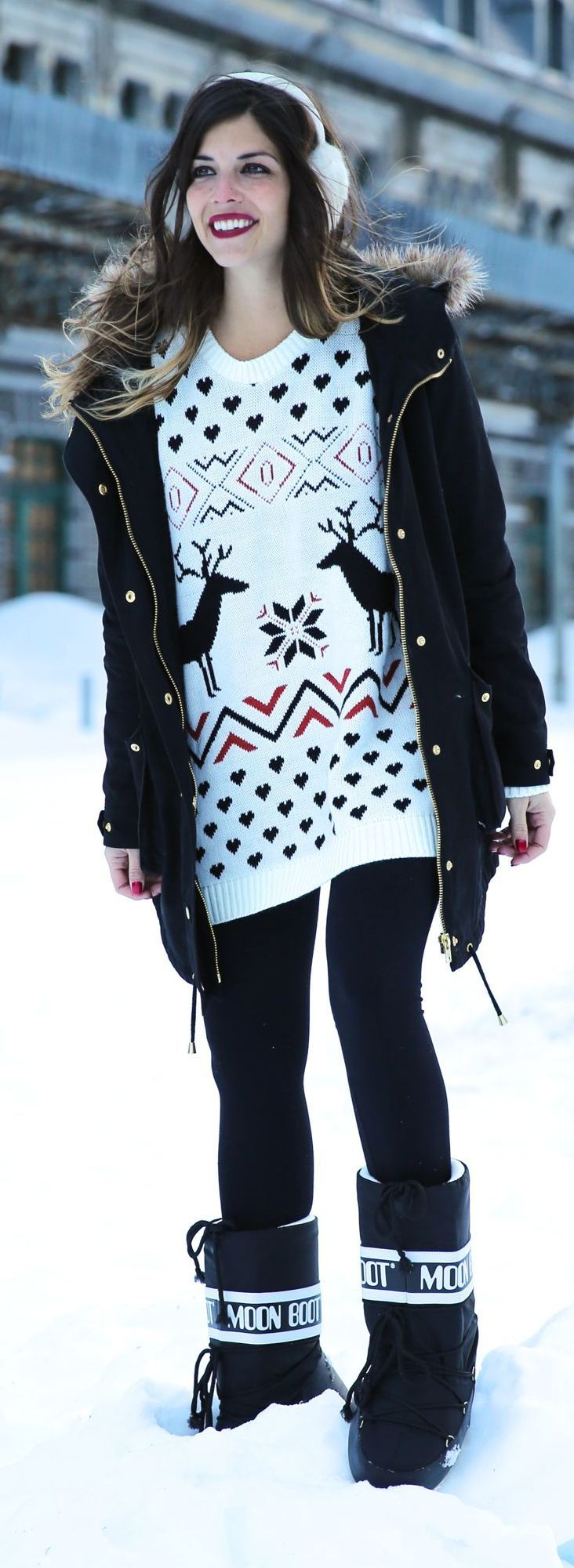 Snow Time Sweater by TrendyTaste | Winter outfit ...