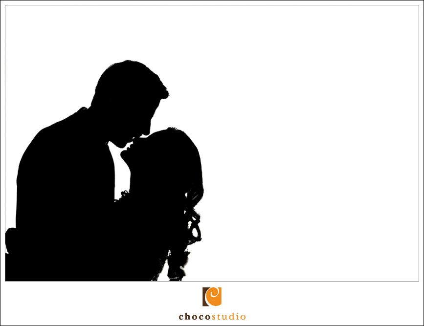 bride silhouette | Photograph of a bride and groom ...