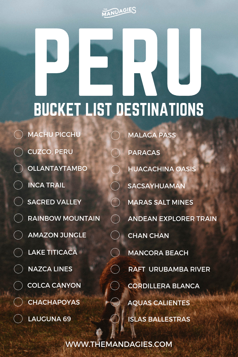 7 Adventurous Things To Do When You Visit Peru - The Mandagies #vacationlooks