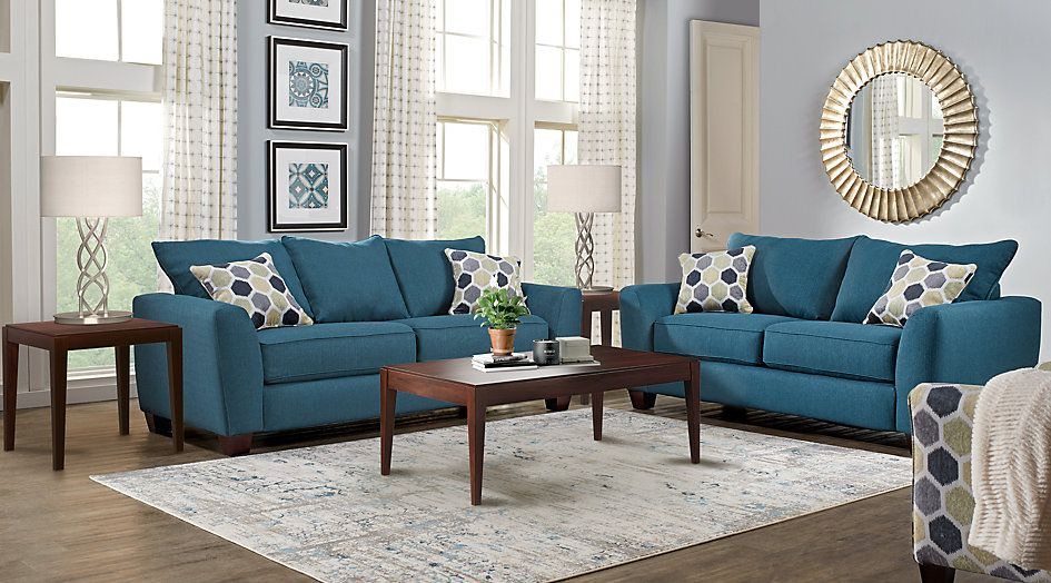 Bonita Springs Blue 5 Pc Living Room 9880Find Affordable Impressive Affordable Living Room Designs Inspiration Design