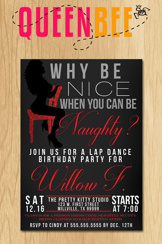 Or Nice Birthday Bachelorette Party Invite With Free