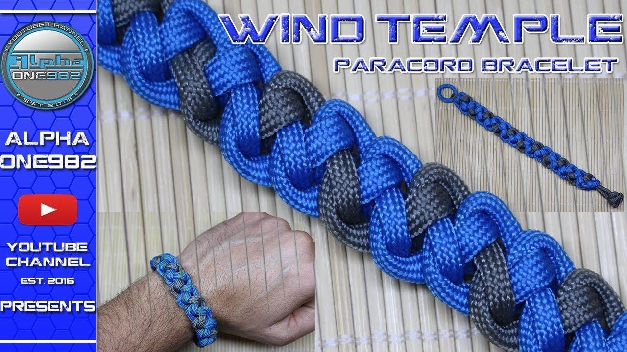 How to make a paracord bracelet wind temple 2 strands