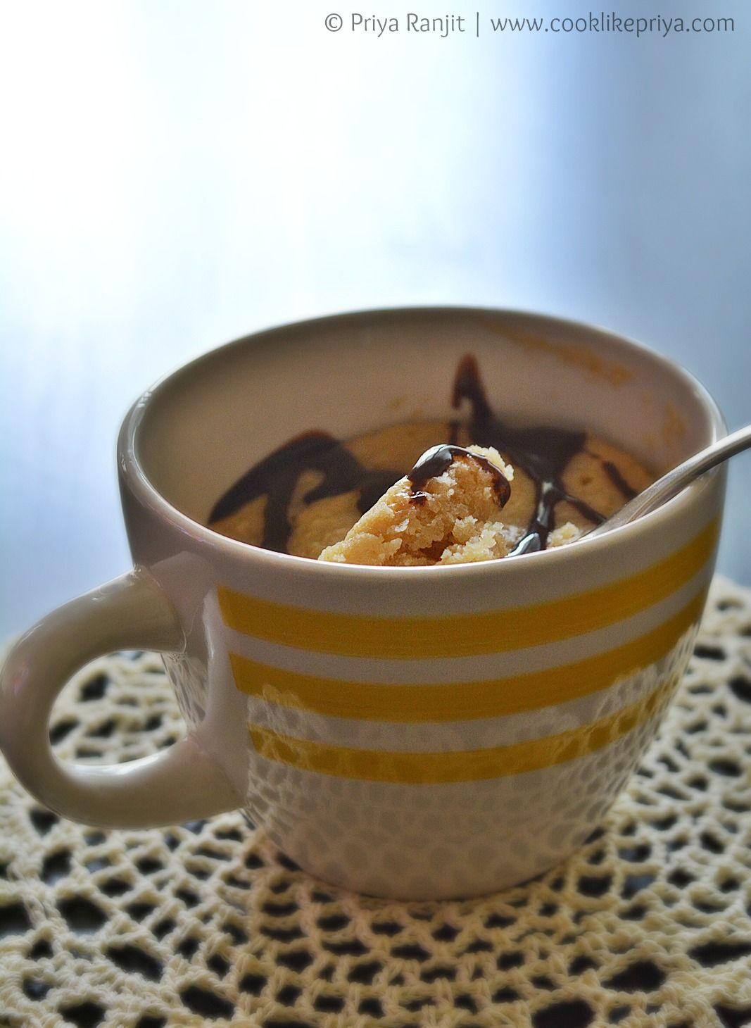 Eggless Mug Cake Recipe Vanilla mug cakes, Mug cake, Recipes