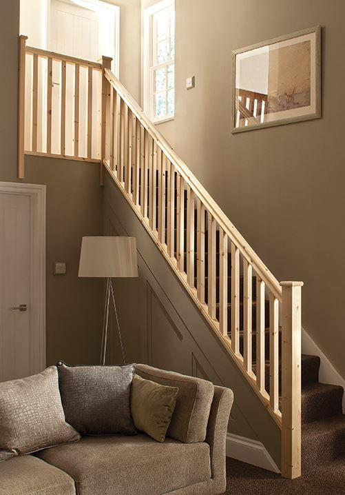 Staircase Refurbishment Pack Pine Handrails 41mm Spindles ...