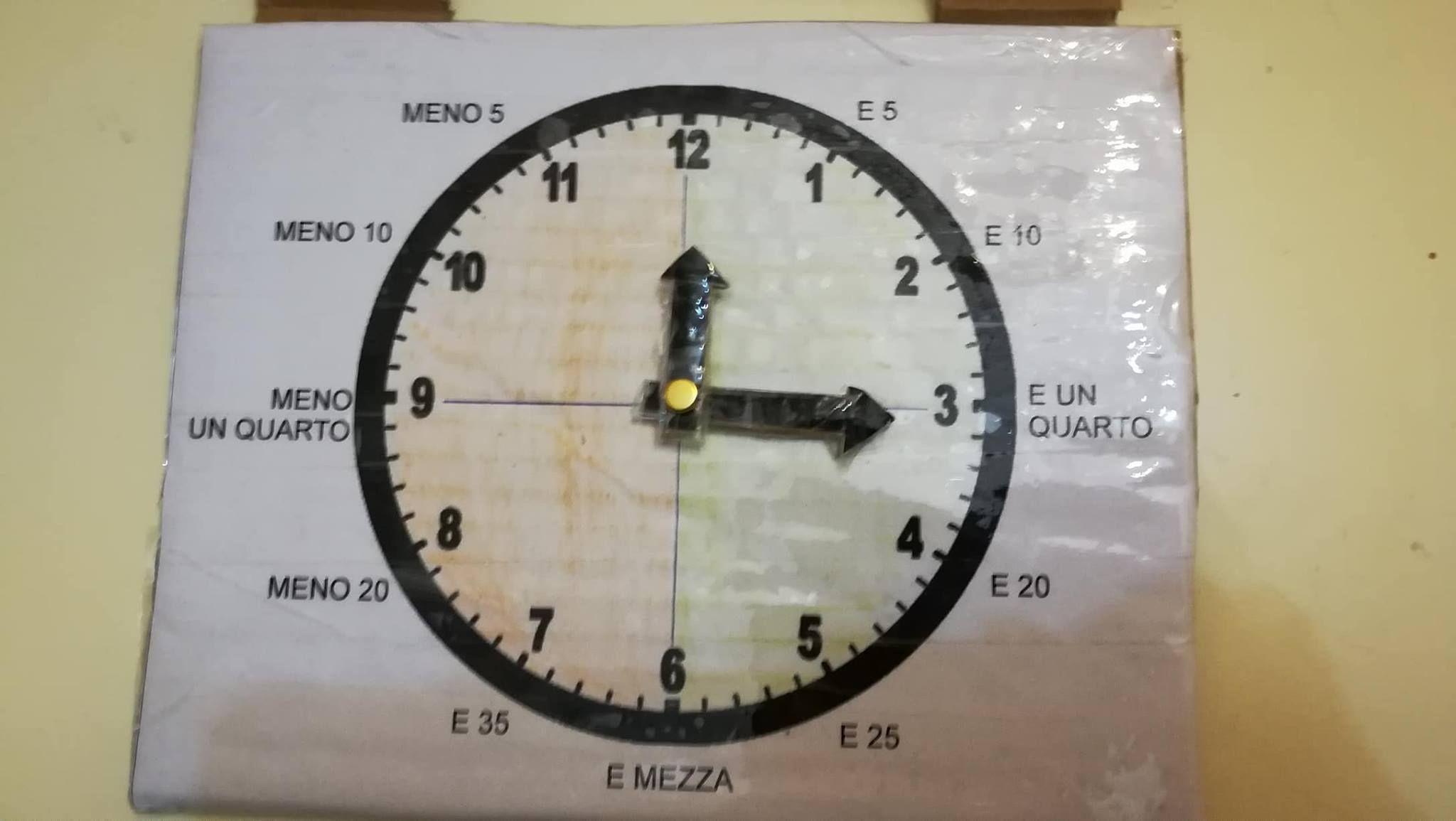 Classe seconda, storia: l'orologio costruito con materiale ...