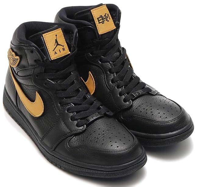 NIKE AIR JORDAN 1 RETRO HIGH BHM  BLACK   METALLIC GOLD-BLACK  908656-001 a5f88af6a6
