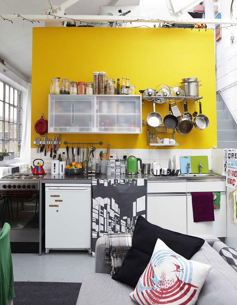 Küchendesign an der wand yellow  my home is my castle  pinterest  zuhause ikea küche und ikea