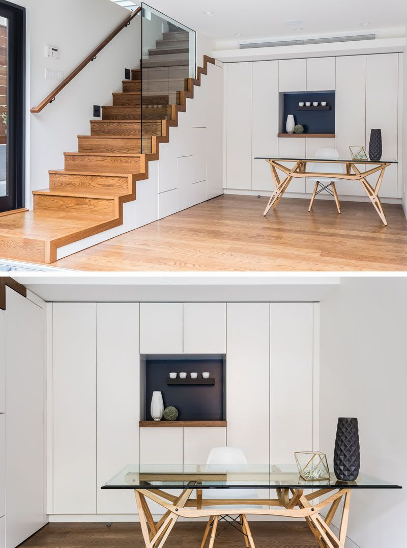 Kitchen Set Under Modern Stairs