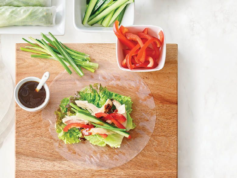 Wraps Gf Chicken Rice Paper Rolls Everyday Easy Food Walmart En